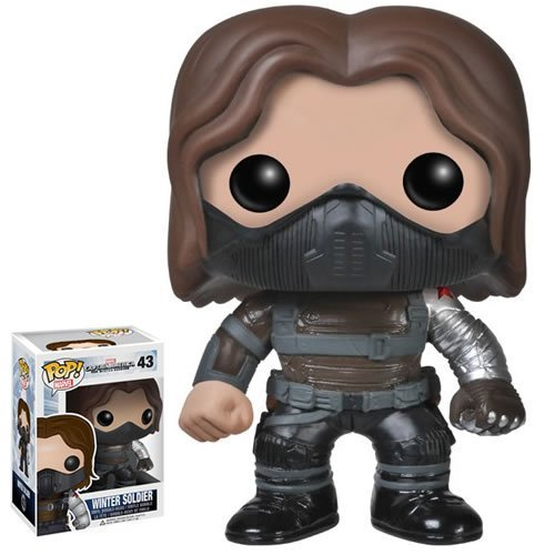 Marvel Winter Soldier Unmasked Funko Pop Vinyl Figure