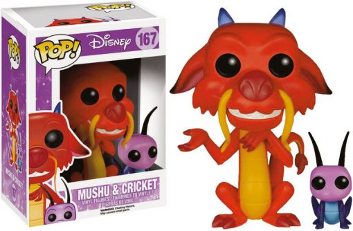 DISNEY - MUSHU AND CRICKET - FUNKO POP! VINYL FIGURE
