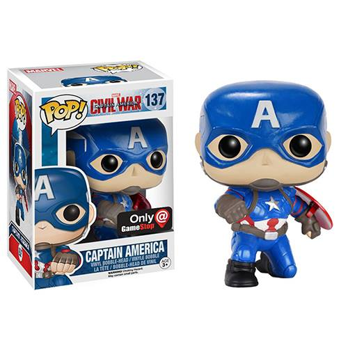 CIVIL WAR – POSE CAPTAIN AMERICA – FUNKO POP! VINYL FIGURE