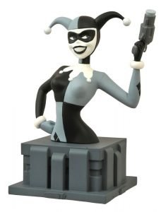 BATMAN - THE ANIMATED SERIES - ALMOST GOT 'IM HARLEY QUINN BUST - BLACK & WHITE 15 CM