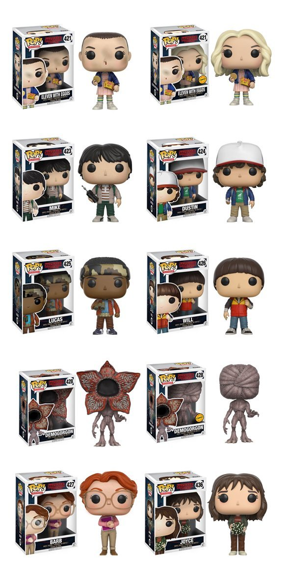 Stranger Things Bundle With 2 Chases Funko Pop Vinyl