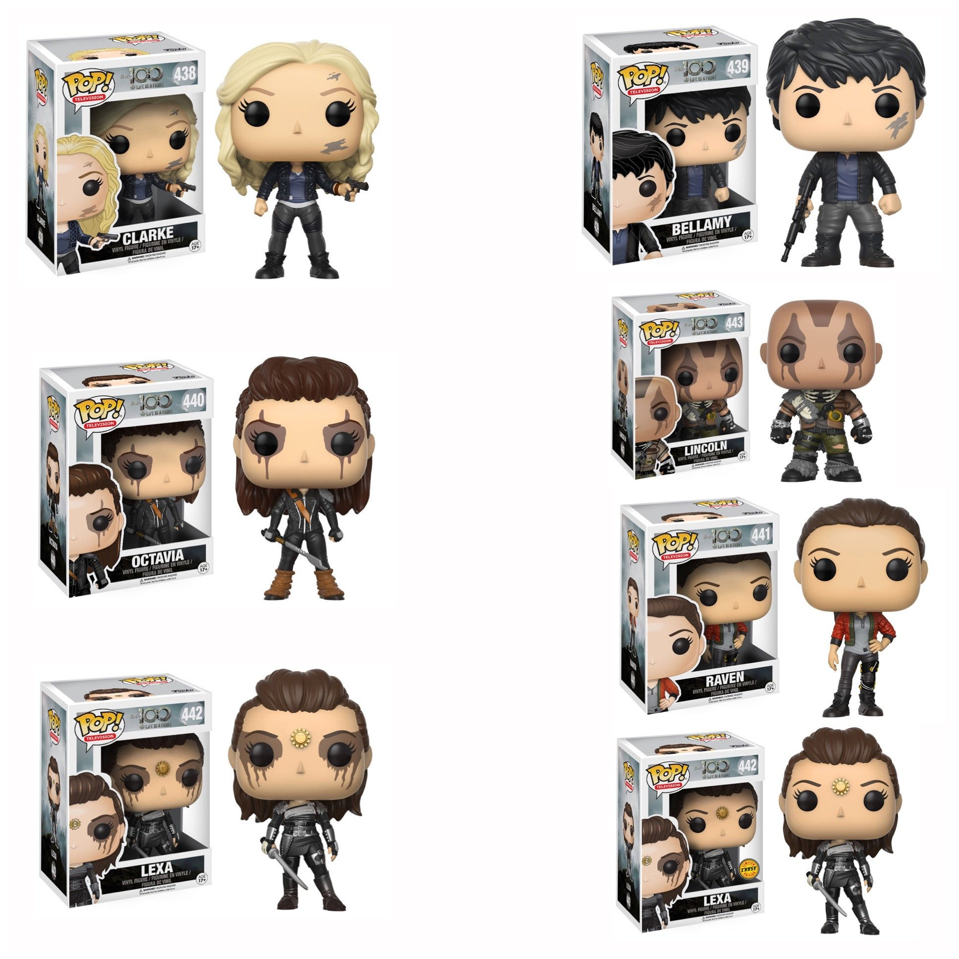 The 100 Bundle W Chase Funko Pop Vinyl Figure Pop
