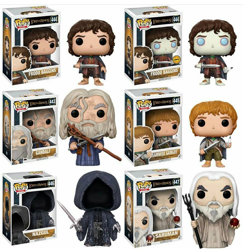 Lord Of The Rings Bundle With Chase Funko Pop Vinyl