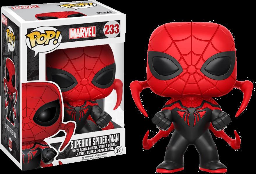 marvel superior spider man funko pop vinyl figure. Black Bedroom Furniture Sets. Home Design Ideas