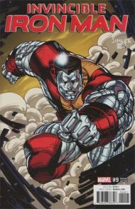 Invincible Iron Man Vol 3 #9 Jim Lee X-Men Trading Card Variant Cover
