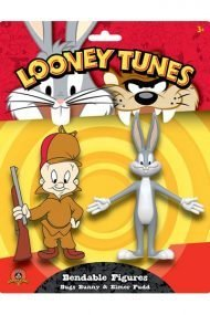 LOONEY TUNES BENDABLE - BUGS BUNNY & ELMER FUDD 2-PACK