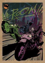 METAL POSTER - DC GOTHAM CITY MOTOR CLUB GOTHAM CITY MC 10 X 14 CM