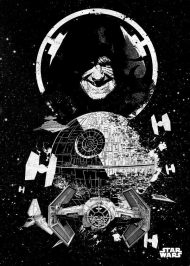 METAL POSTER - STAR WARS PILOTS DEATH STAR 10 X 14 CM