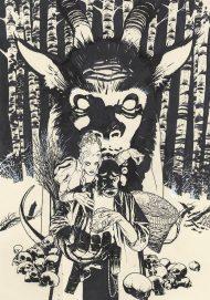 Hellboy Krampusnacht #1 Hughes Sketch Variant