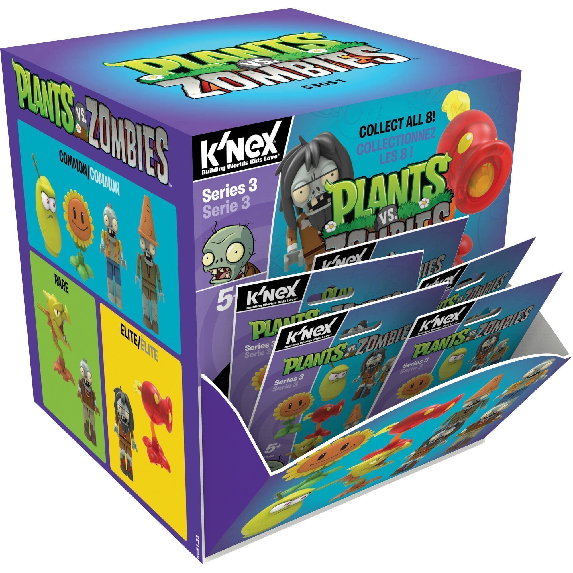 Blindbag Plants Vs Zombies Buildable K Nex Figures 5 Cm