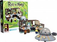RICK AND MORTY - CONSTRUCTION SET - SPACESHIP & GARAGE