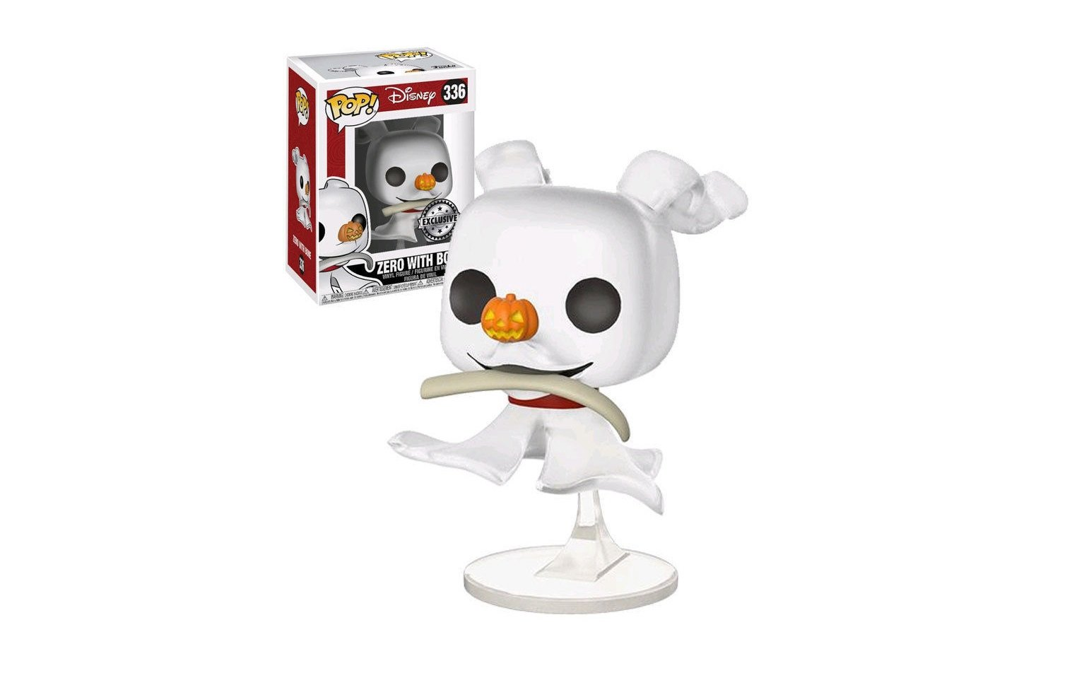 NIGHTMARE BEFORE CHRISTMAS - ZERO WITH BONE - FUNKO POP! VINYL ...