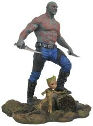 MARVEL GALLERY – GUARDIANS OF THE GALAXY VOL. 2 - DRAX & BABY GROOT PVC STATUE 25 CM