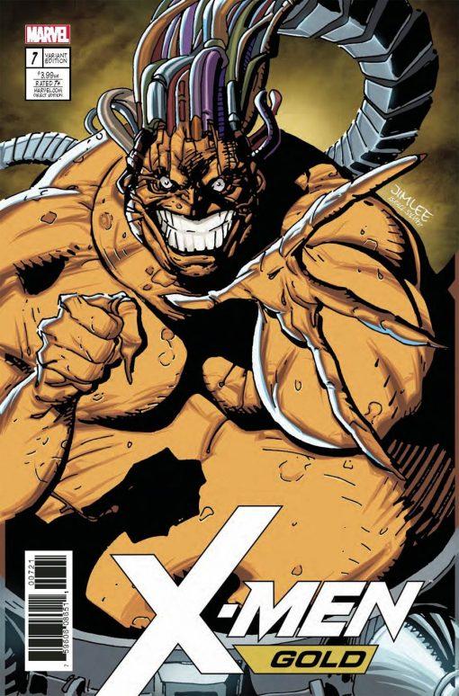 X-Men: Gold #7 Jim Lee X-Men Trading Card Variant Cover (Secret Empire Tie-In)