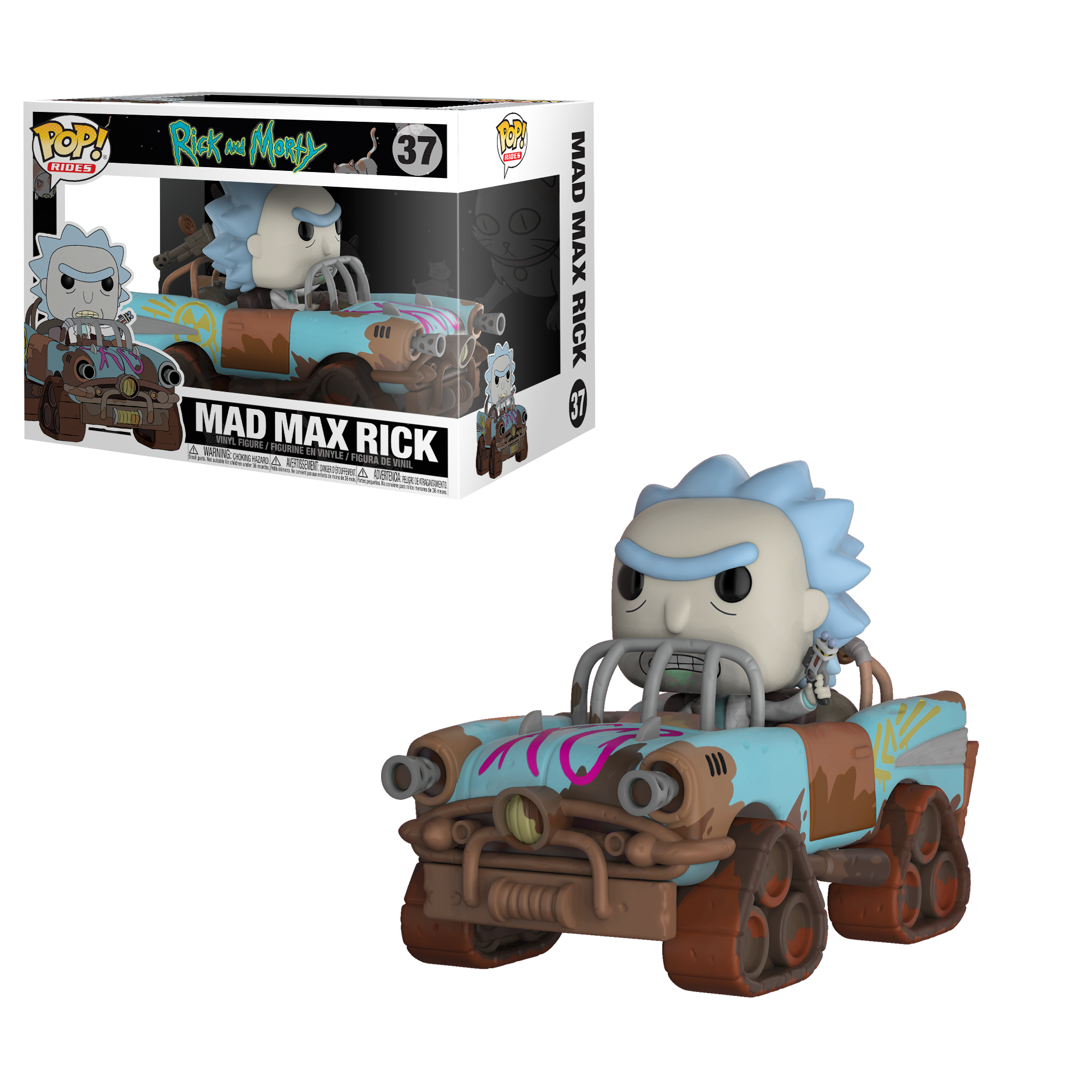 Rick And Morty Mad Max Rick Funko Pop Ride Vinyl
