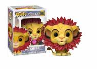 DISNEY THE LION KING - SIMBA WITH LEAF MANE FLOCKED – FUNKO POP! VINYL FIGURE