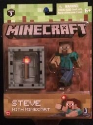 MINECRAFT - STEVE WITH MINECART - FIGURE PACK