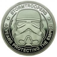 STAR WARS - ORIGINAL STORMTROOPER COLLECTABLE COIN 40 YEARS PROTECTING THE EMPIRE