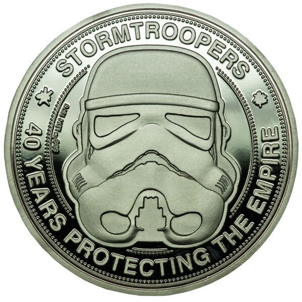 Star Wars Original Stormtrooper Collectable Coin 40 Years Protecting The Empire