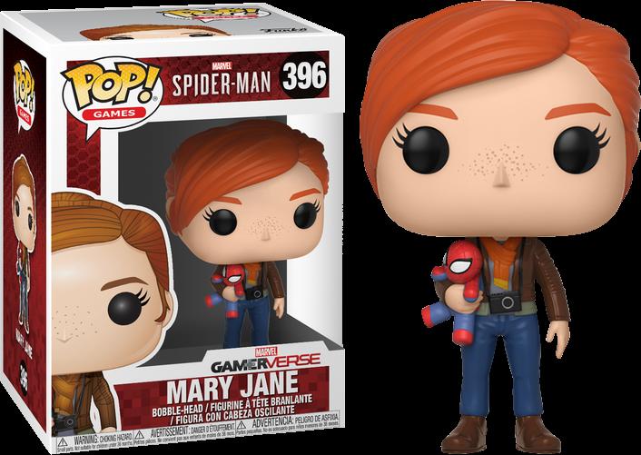 Marvel-Spider-Man 30682 Games Mary Jane With Plush Pop Vinyl Figure