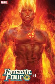 Fantastic Four Vol 6 #1 Stanley Artgerm Lau Human Torch Variant Cover