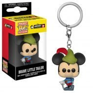 MICKEY MOUSE 90TH ANNIVERSARY - BRAVE LITTLE TAILOR MICKEY - FUNKO KEYCHAIN VINYL FIGURE
