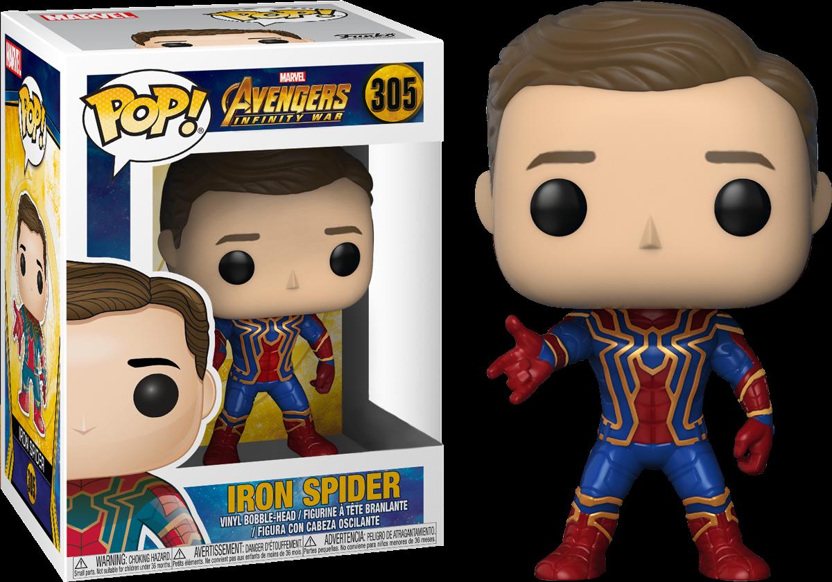 avengers infinity war - iron spider unmasked exclusive - funko pop