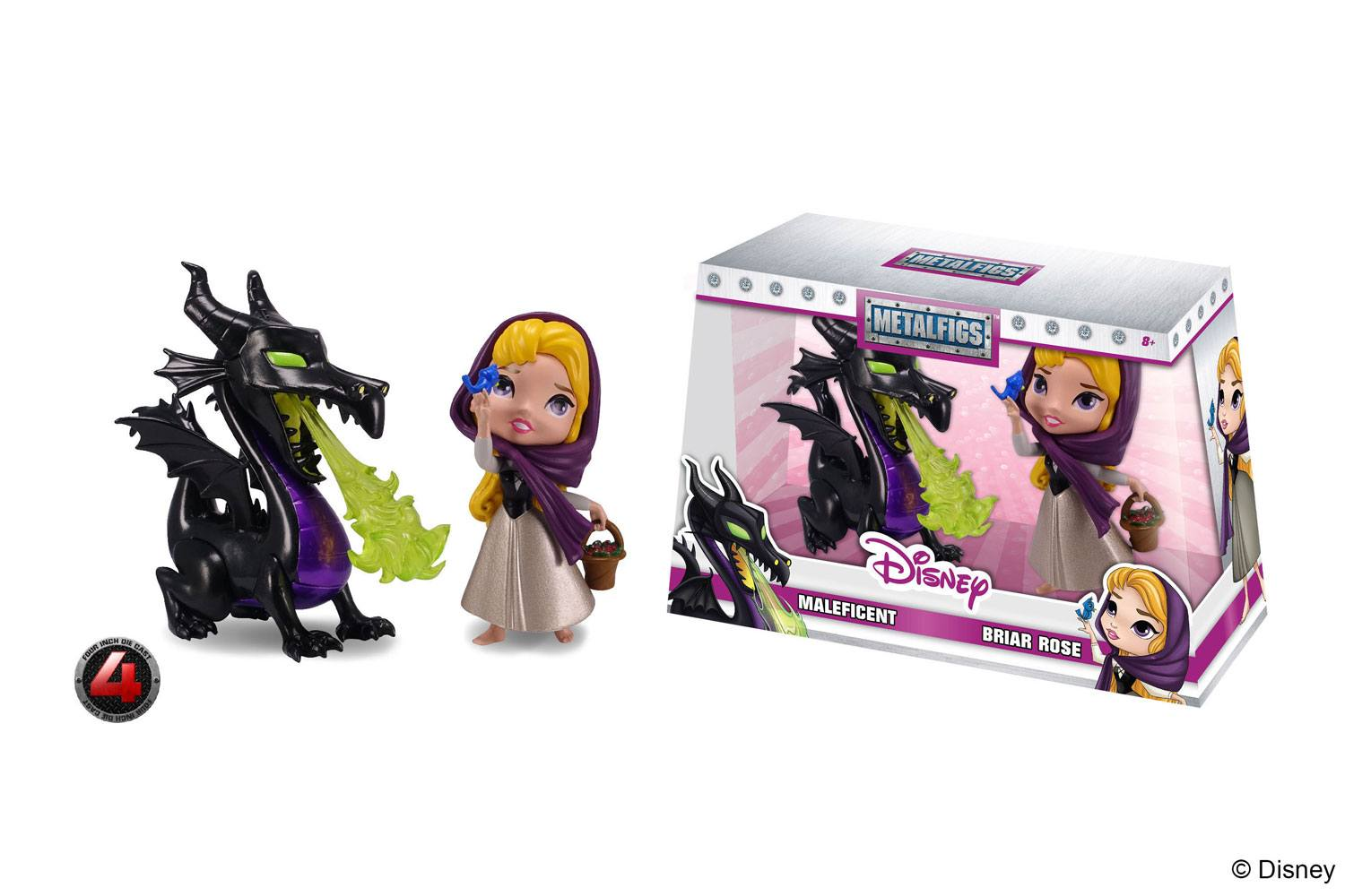 Disney 2 Pack Maleficent And Briar Rose Metalfigs Diecast Mini Figures 10 Cm Pop Addiction Funko Pop Collectables Merchandise Comics And